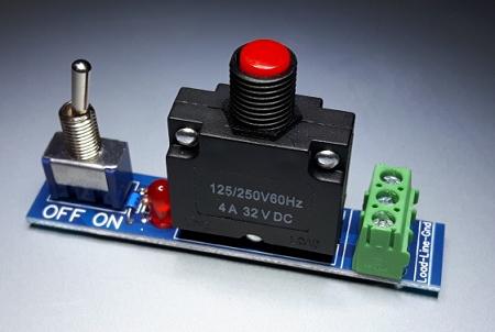 Push Button Resettable 4 Amp Circuit Breaker