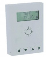 Low voltage room controller thermostat